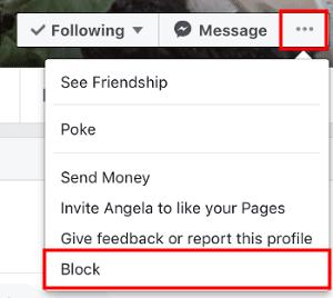 kako blokirati nekoga na facebooku