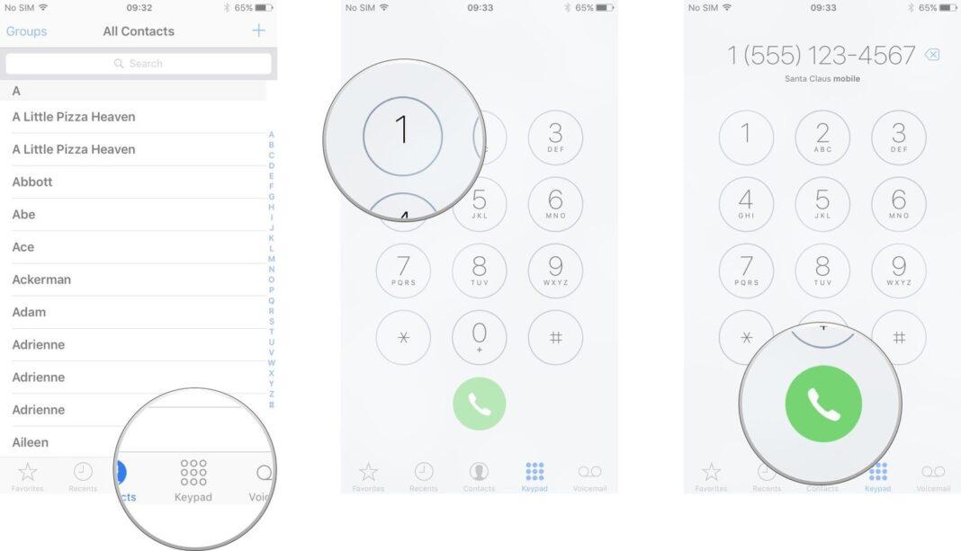 posljednji birani broj na iPhoneu